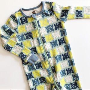 TEA COLLECTION • robot footed pajamas